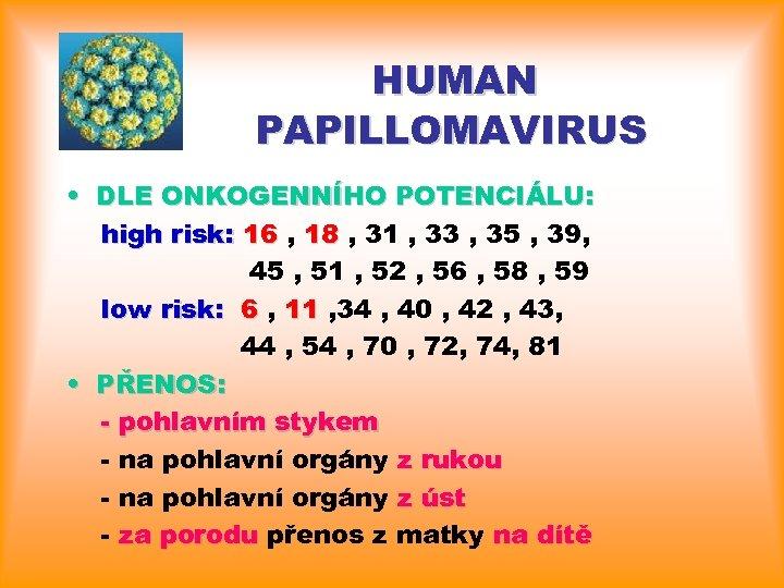 Category: DEFAULT - Papillomavirus prenos