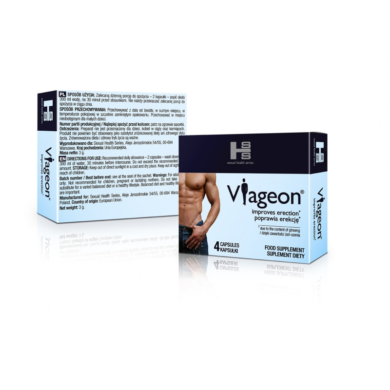 Pastile pentru erectie si potenta, Viageon™, viagra, 4 capsule